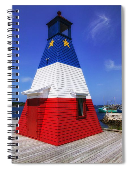 Red White And Blue Lighthouse Spiral Notebook