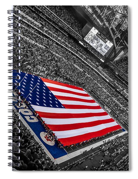 Red White And Blue Spiral Notebook