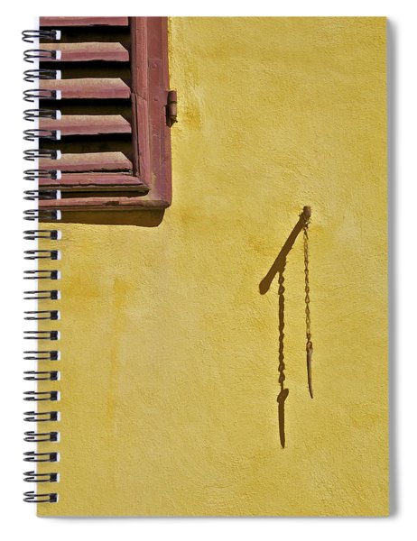 Red Window Shutter Of Tuscany Spiral Notebook