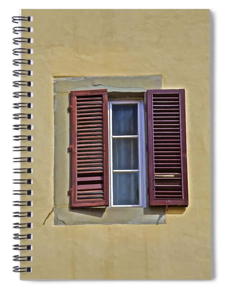 Red Window Shutters Of Florence Spiral Notebook