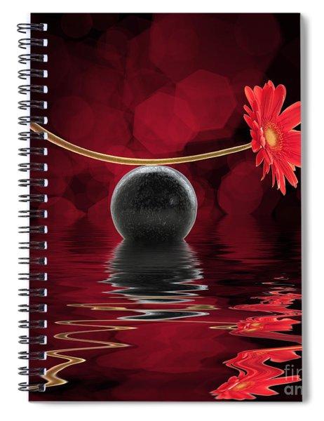 Red Zen Gerbera Spiral Notebook