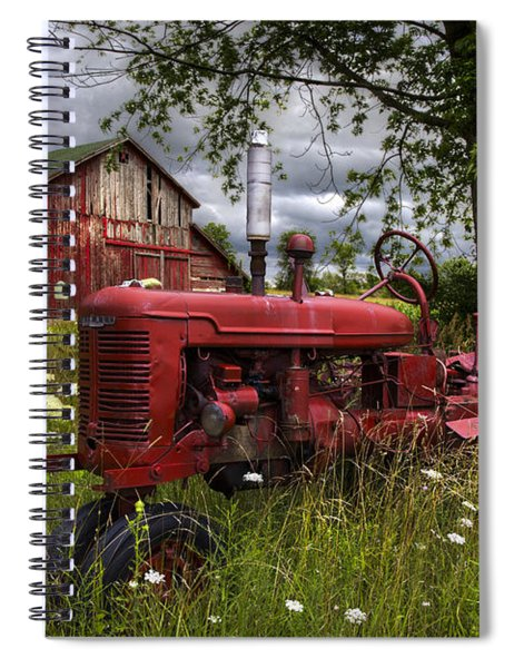 Reds In The Pasture Spiral Notebook