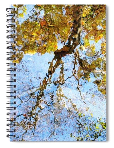 Reflecting On Monet Spiral Notebook