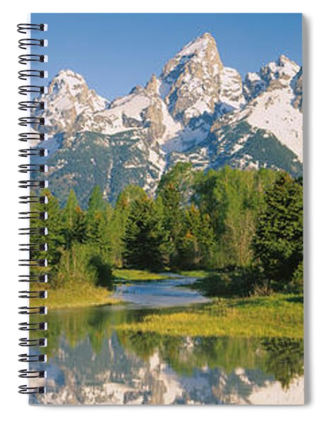 Reflection Of A Snowcapped Mountain Spiral Notebook