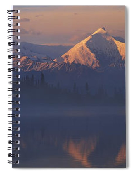 Reflection Of Snow Covered Mountain Spiral Notebook