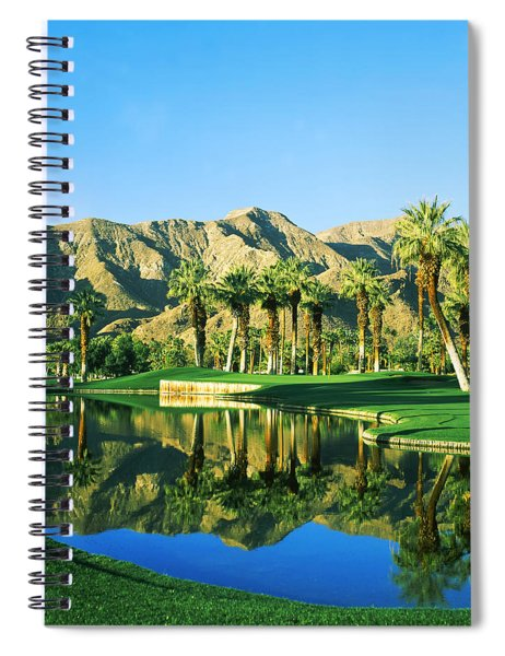 Reflection Of Trees On Water In A Golf Spiral Notebook