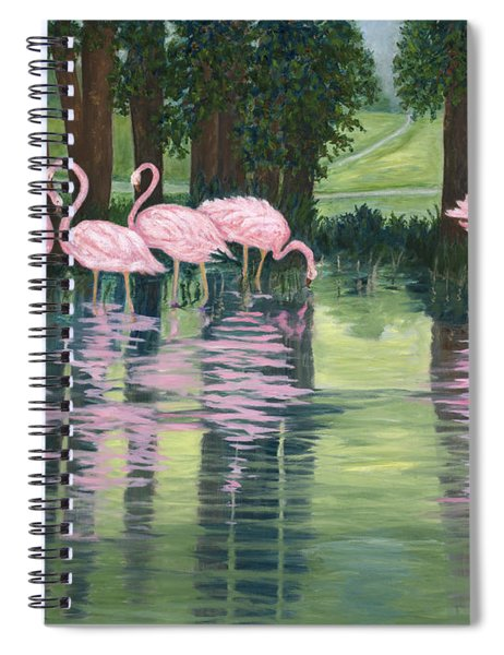 Reflections In Pink Spiral Notebook