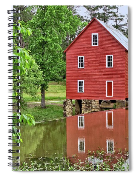 Reflections Of A Retired Grist Mill - Square Spiral Notebook