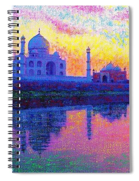Taj Mahal, Reflections Of India Spiral Notebook
