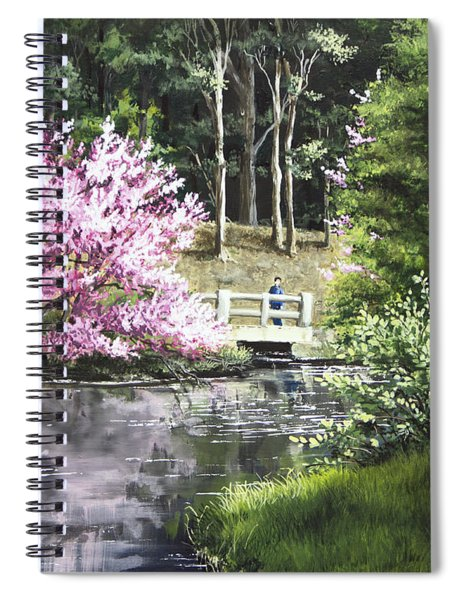 Reflections Of Spring Spiral Notebook