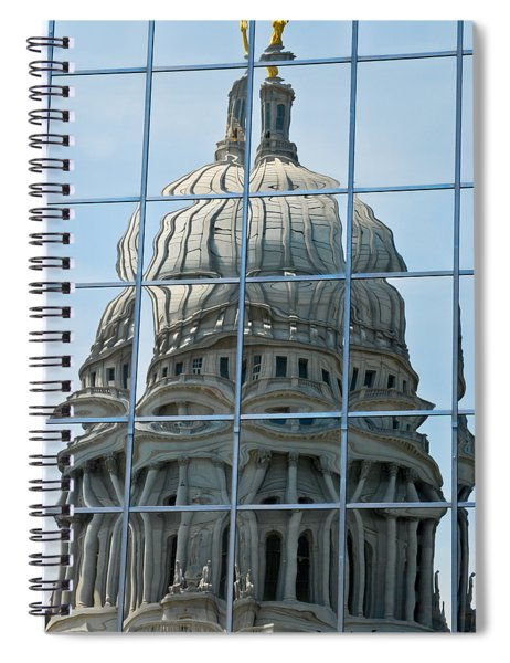 Reflections Of The Capitol Spiral Notebook