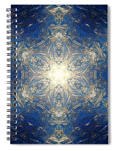 Spiral Notebook featuring the photograph Reflective Ice I by Derek Gedney