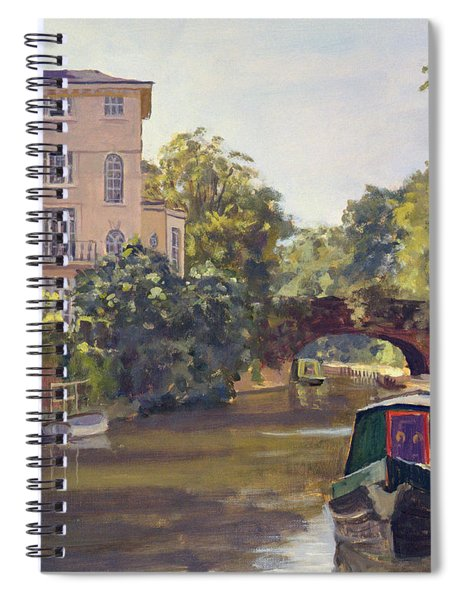 Regents Park Canal Oil On Canvas Spiral Notebook