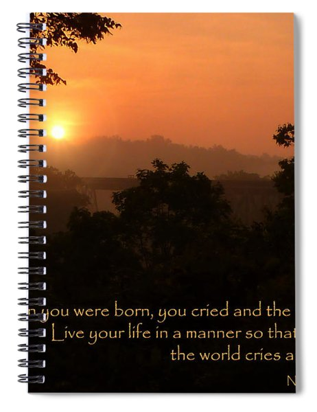Rejoice - How To Live Your Life Spiral Notebook