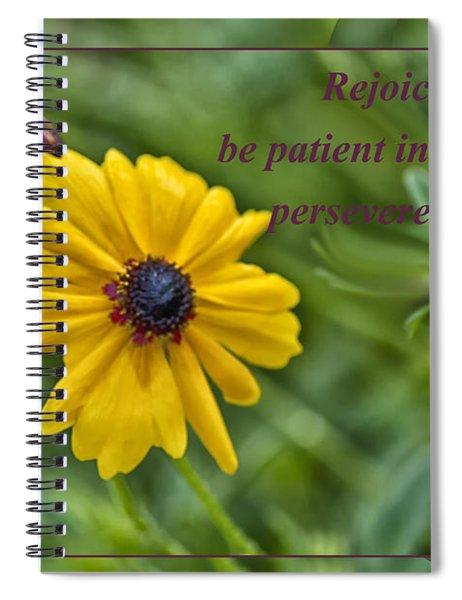 Rejoice In Hope Spiral Notebook