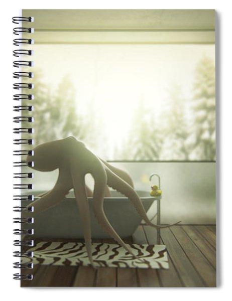 Relaxing Octopus...  Spiral Notebook