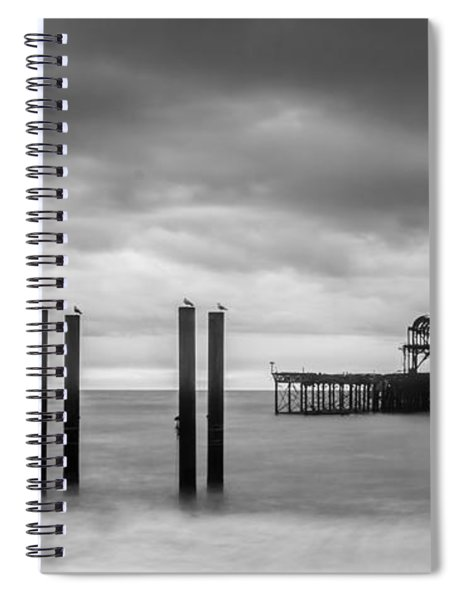 Remains Of The West Pier In Brighton Spiral Notebook