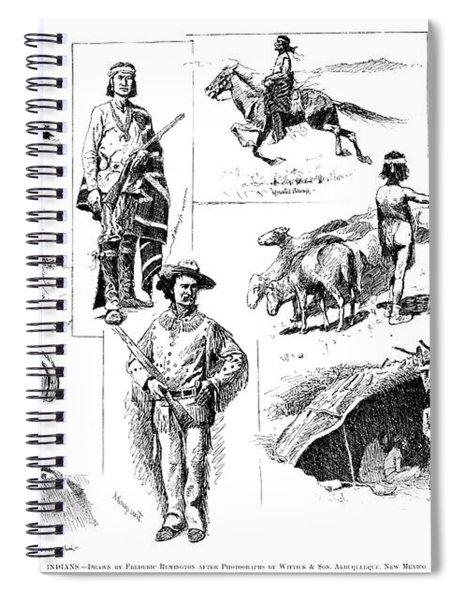 Remington Navajo, 1890 Spiral Notebook