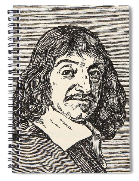 Rene Descartes Spiral Notebook