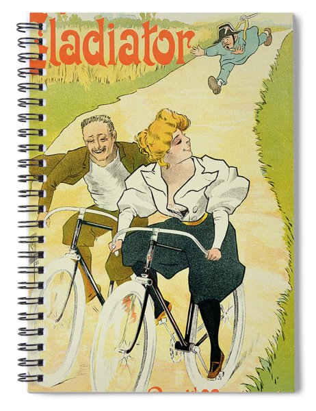 Reproduction Of A Poster Advertising Gladiator Cycles Spiral Notebook