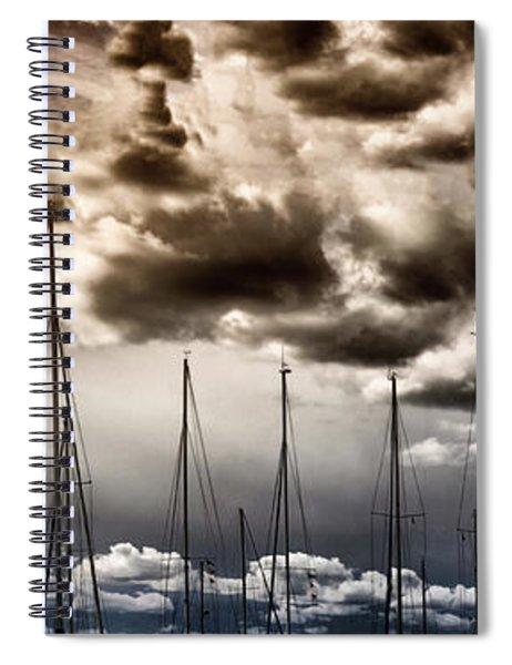 Resting Sailboats Spiral Notebook