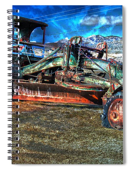 Retired Caterpillar Spiral Notebook