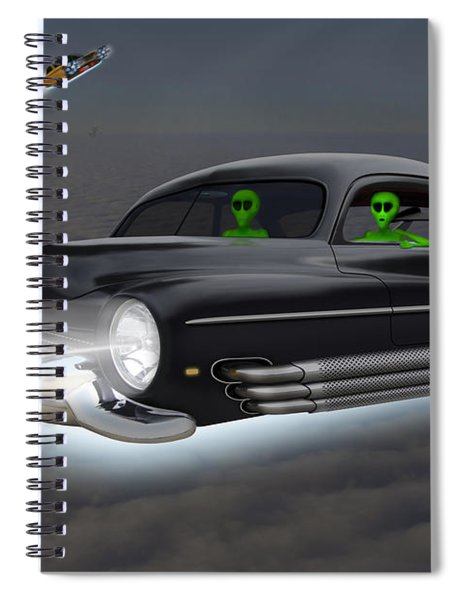 Retro Flying Objects 4 Spiral Notebook