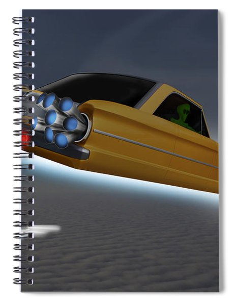 Retro Flying Objects Spiral Notebook