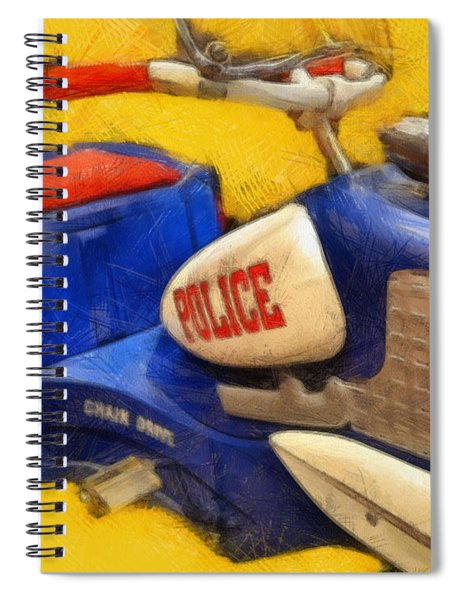 Retro Police Tricycle Spiral Notebook
