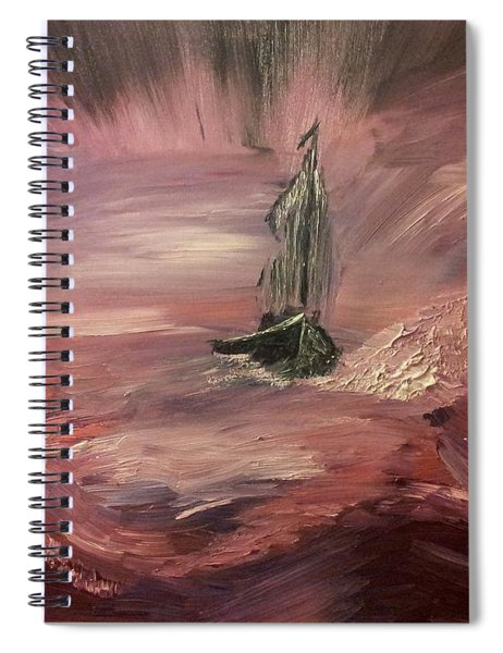 Return To Shores In Deep Red Spiral Notebook
