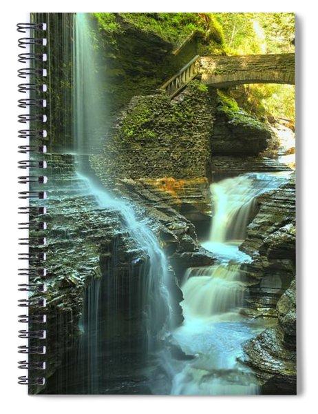 Rainbow Falls Watkins Glen Spiral Notebook