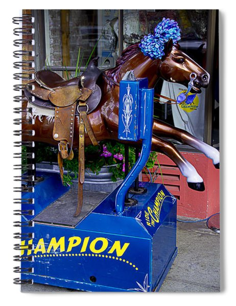 Ride The Champion Spiral Notebook
