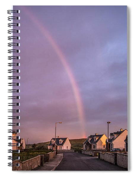 Ride To The Rainbow's End Spiral Notebook