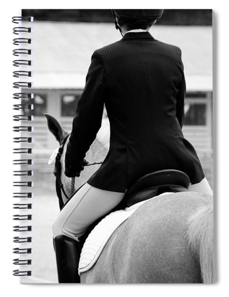 Rider In Black And White Spiral Notebook