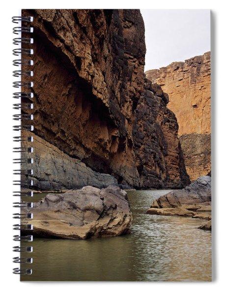Rio Grande Winding Through Santa Elena Spiral Notebook