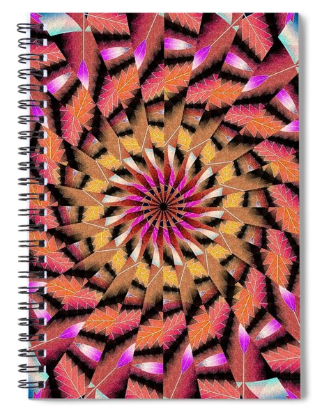 Rippled Source Kaleidoscope Spiral Notebook