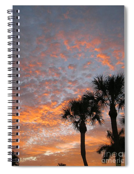 Rise And Shine. Florida. Morning Sky View Spiral Notebook