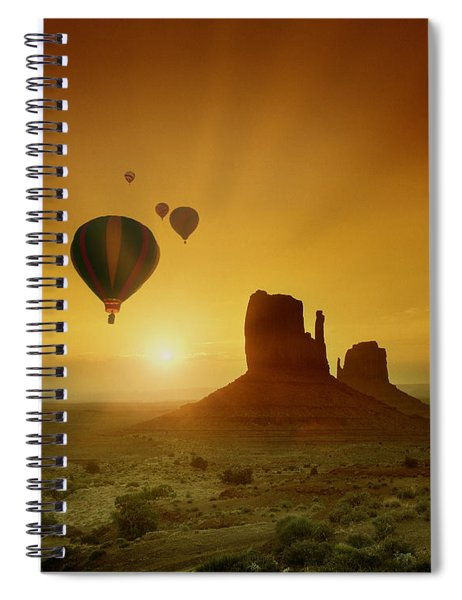 Rising To The Sun Spiral Notebook