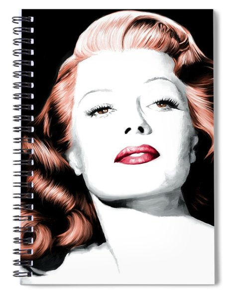 Rita Hayworth Large Size Portrait Spiral Notebook