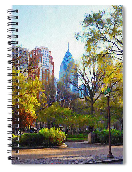 Rittenhouse Square In The Spring Spiral Notebook