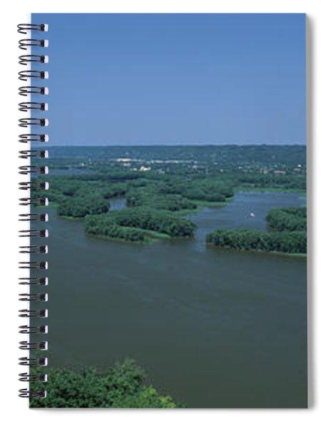 River Flowing Through A Landscape Spiral Notebook