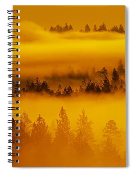 River Fog Rising Spiral Notebook