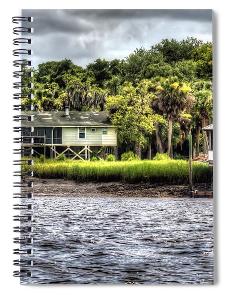 River House On Wimbee Creek Spiral Notebook