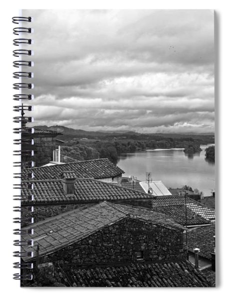 River Mino And Portugal From Tui Bw Spiral Notebook