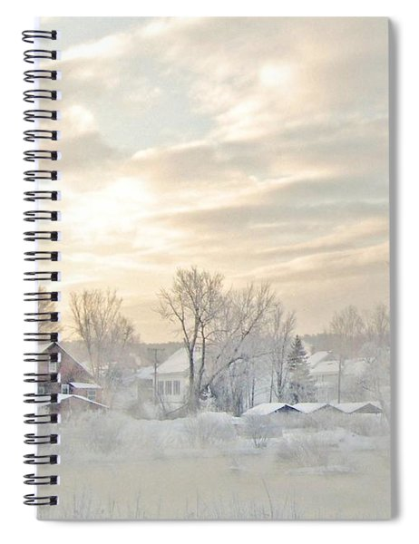 River Mist On A Very Cold New Hampshire Morning Spiral Notebook