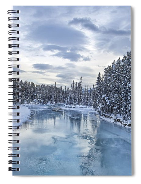 River Of Ice Spiral Notebook