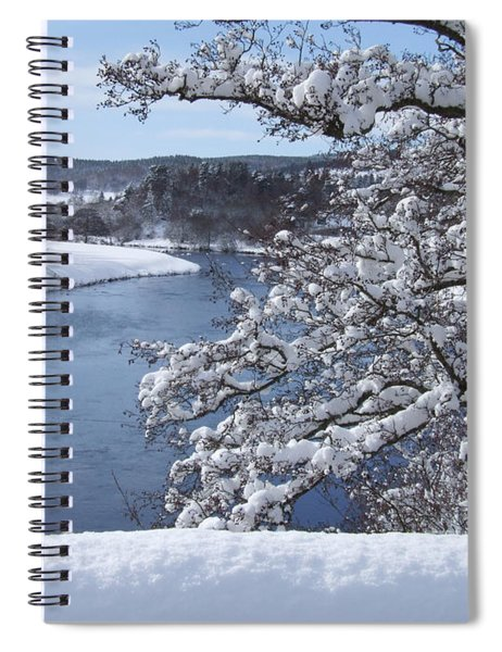 Grantown On Spey - Winter By The River  Spiral Notebook