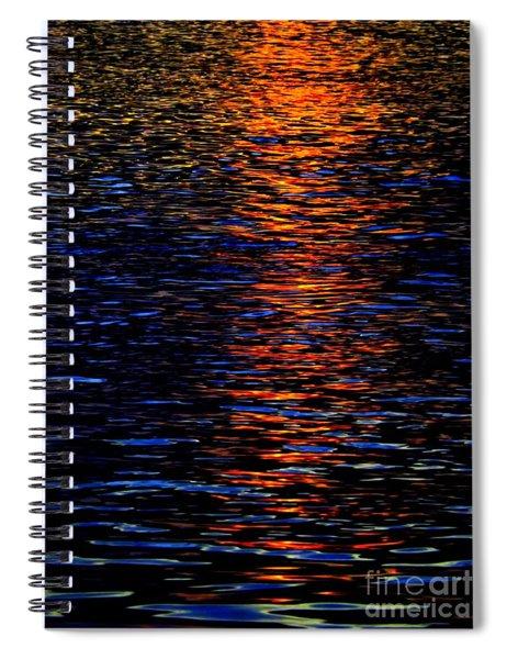 River Sunset Spiral Notebook