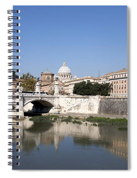 River Tiber With The Vatican. Rome Spiral Notebook
