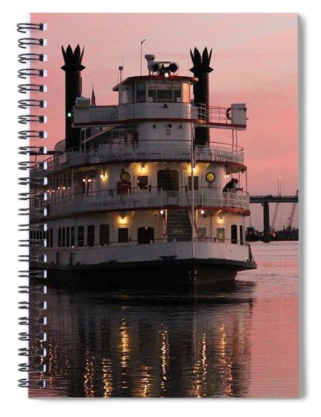 Riverboat At Sunset Spiral Notebook